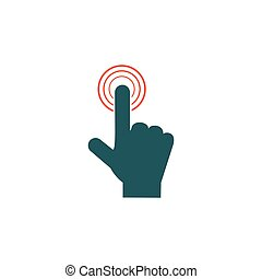 Finger touch Icon Vector