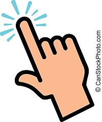 Finger Touch Vector Icon