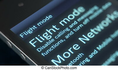 """""""Finger touches down the Flight mode on a screen"""" -..."""