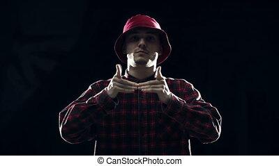 Finger Tutting - Upper section of funky guy finger tutting...