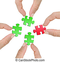 Finger with puzzle