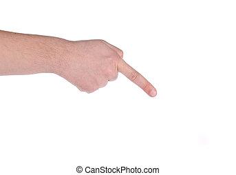 finger., zeigen