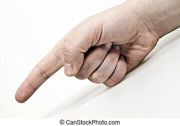 finger, zeigt