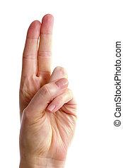 finger, zwei