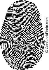 fingeraftryk, vektor, ikon