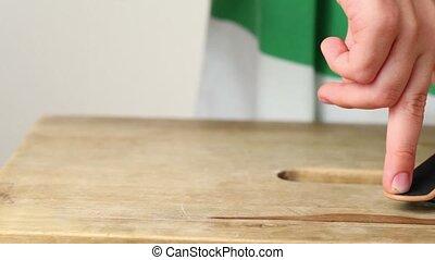 fingerboard, eenvoudig, trucs, twee vingers, weinig