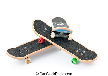 three boards on a white background