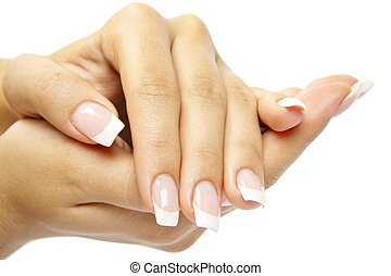 fingernagel, kvinna, sensualitet, omsorg