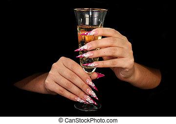 fingernagel, menschliche , finger, langer