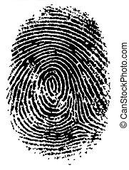 FingerPrint 2 - Black and White Vector Fingerprint - Very...
