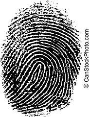FingerPrint 7 - Black and White Vector Fingerprint - Very...