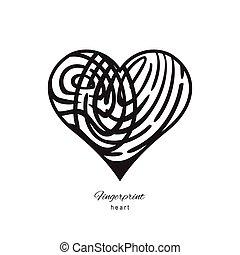 Fingerprint abstract heart