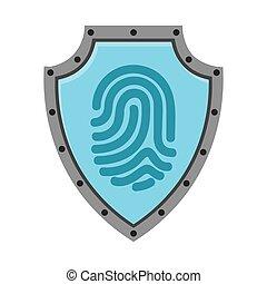 fingerprint access human icon