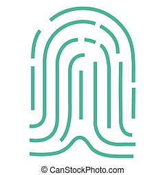 fingerprint access isolated icon