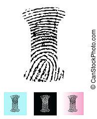 Fingerprint Alphabet I