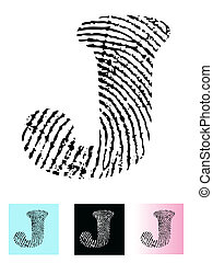 Fingerprint Alphabet J
