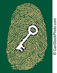 Fingerprint and security key