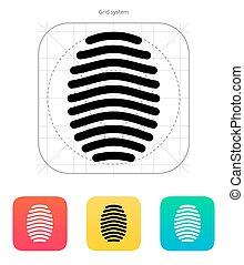 Fingerprint arch type icon.