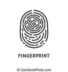 Fingerprint Authentication Verify Poster Vector -...