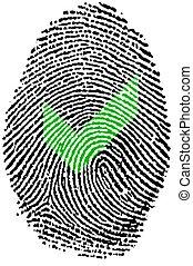 Fingerprint - Check - Fingerprint -