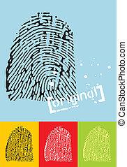 Fingerprint - Vectorial illustration of a fingerprint....