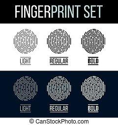 Fingerprint - Abstract Fingerprint Icons Set, Future...