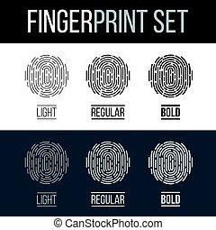 Fingerprint - Biometric Fingerprint Icons Set, Sci-Fi Future...