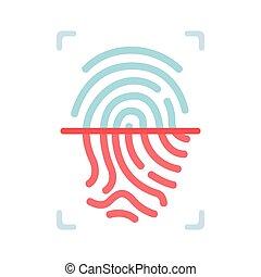 Fingerprint flat illustration
