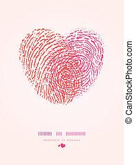 Fingerprint heart romantic background