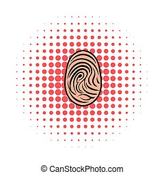 Fingerprint icon, comics style