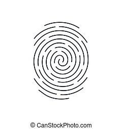 Fingerprint Icon Detailed for Simple Identity Person...