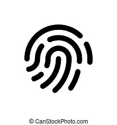 Fingerprint icon, flat design vector.