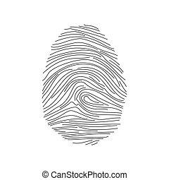 Fingerprint icon. Vector