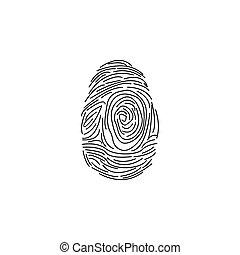 fingerprint icon. vector illustration black on white background