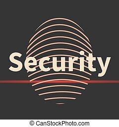 Fingerprint icon with security text. - Fingerprint icon with...