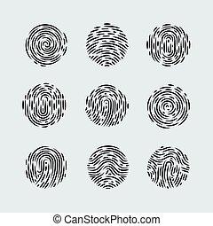 Fingerprint - Abstract Round Fingerprint Patterns for...