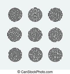 Fingerprint - Round Fingerprint Patterns for Identity Person...