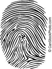 Fingerprint - Criminal fingerprint for detective, sequrity...