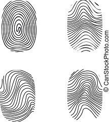 fingerprint in black silhouette on