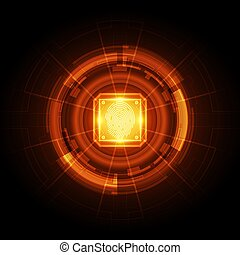 Fingerprint integrated in a printed circuit, releasing ...