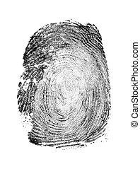 fingerprint isolated on white background