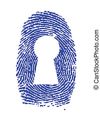fingerprint lock illustration