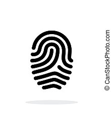 Fingerprint loop type icon on white background. Vector...