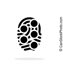 Fingerprint loop type scan icon on white background. Vector...