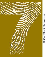 Fingerprint Number - 7 (Highly detailed grunge Number)