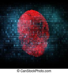 Fingerprint on digital screen
