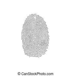 Fingerprint outline silhouette