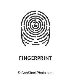 Fingerprint Print of Finger Identification Vector