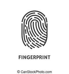 Fingerprint Print of Human Finger Poster Vector -...
