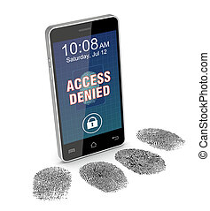 fingerprint reader on a smartphone